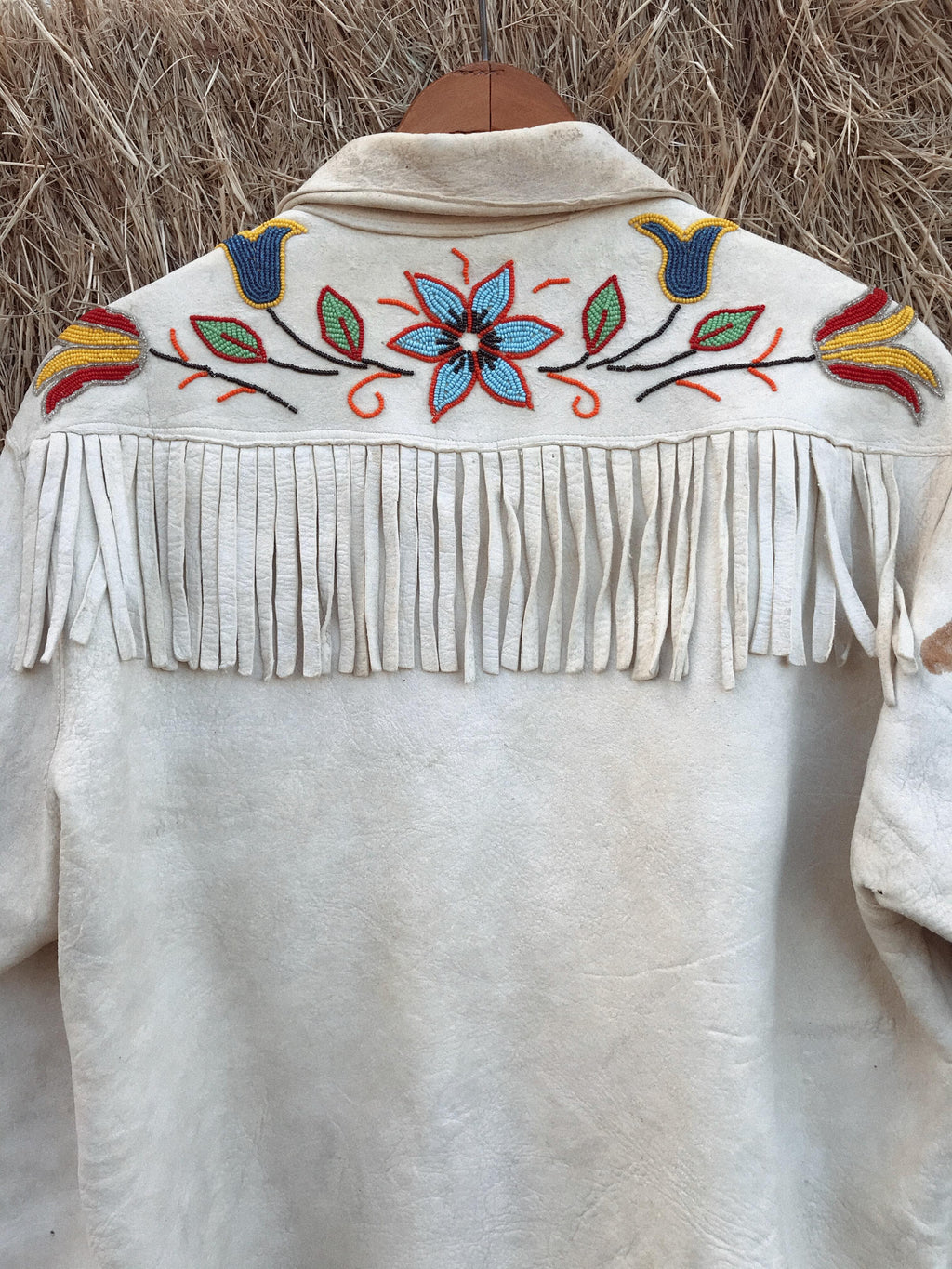 40s-50s Beaded Buckskin Jacket