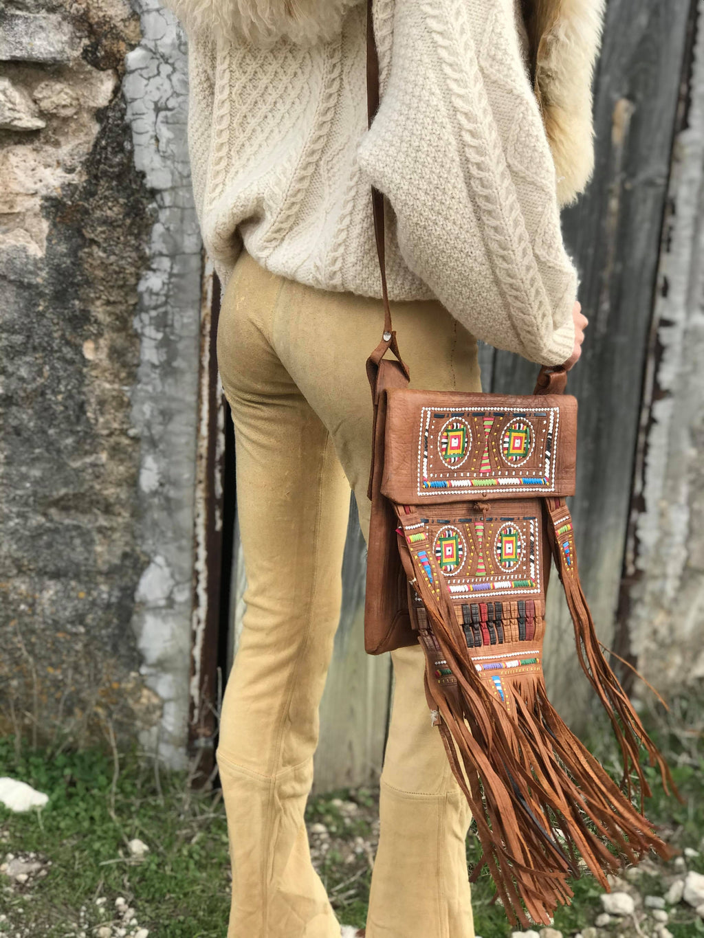 Berber Nomad Bag {saddle brown}