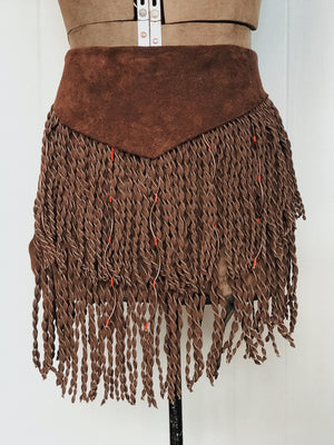 Fringe Apron with Red Beads