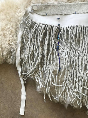 Fringe Apron with Vintage Beads