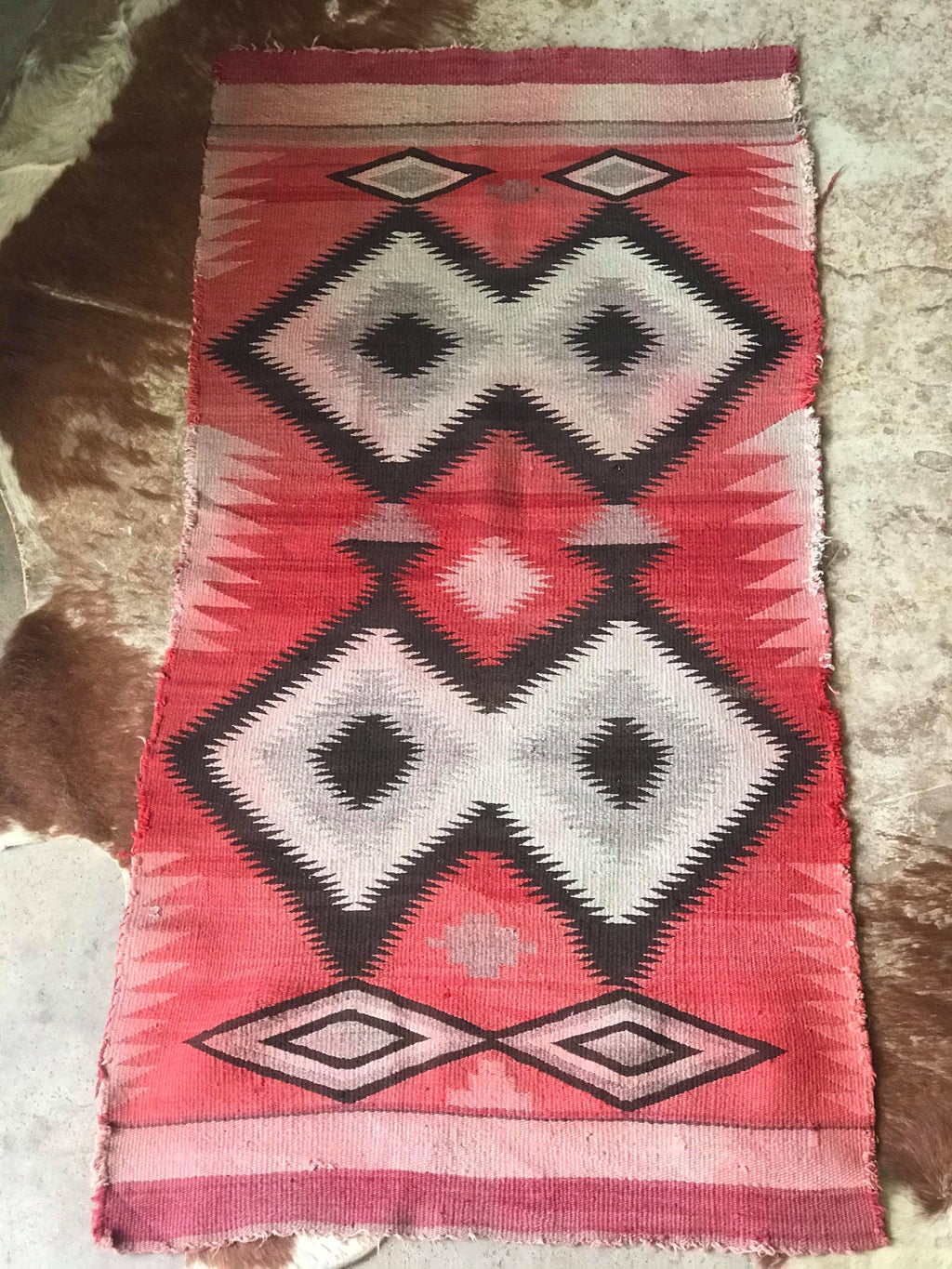 Vintage Navajo Saddle Blanket