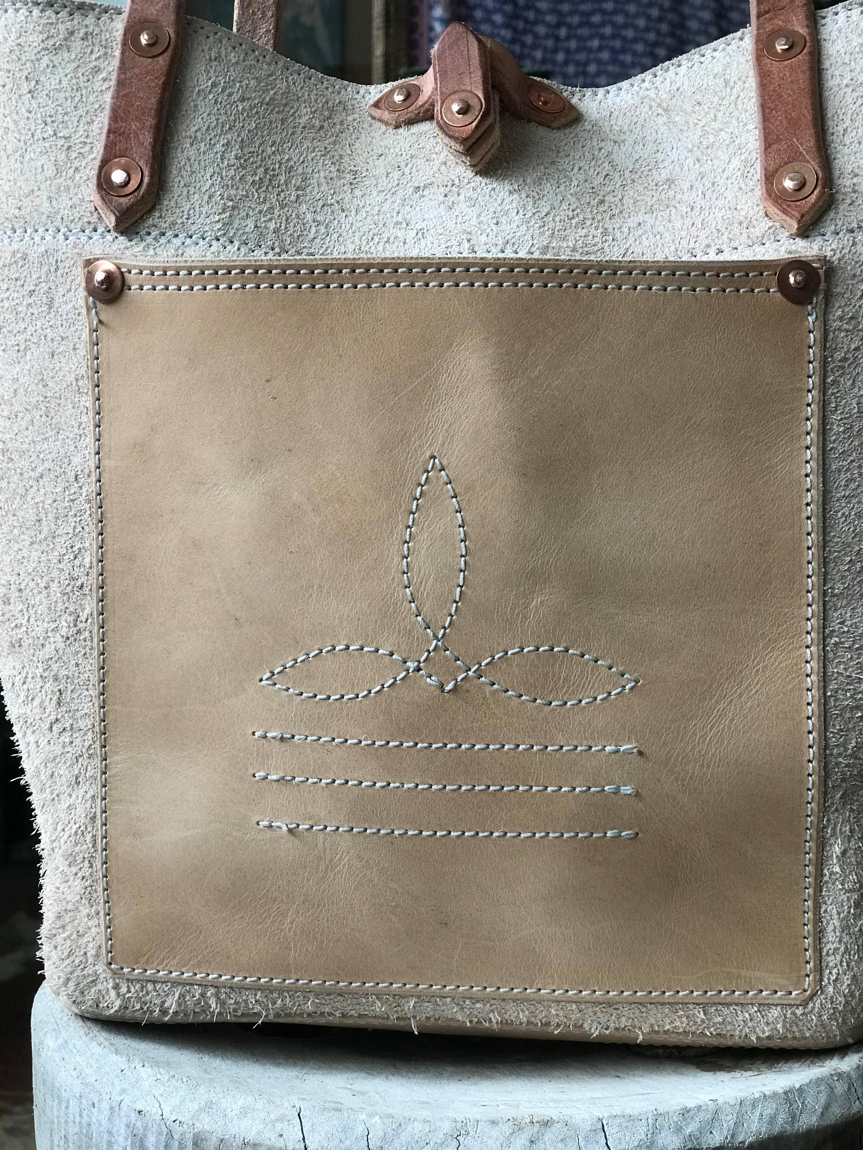 Handmade Rough Out Tote