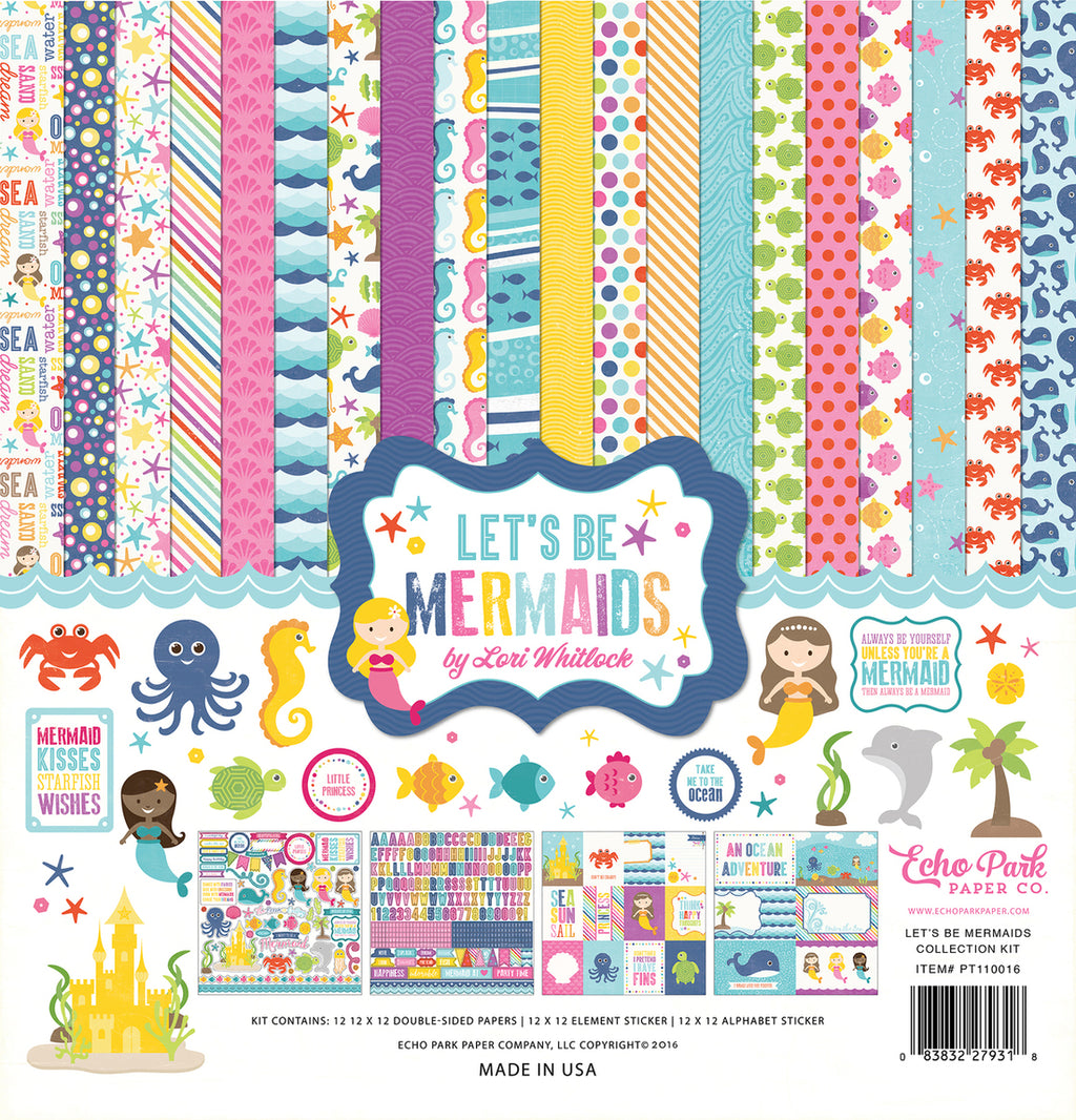 Echo Park Let's Be Mermaids Collection Kit by Lori Whitlock