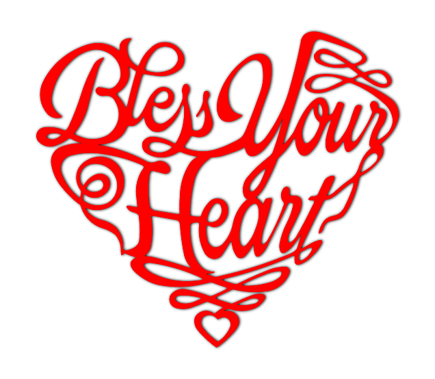 Bless Your Heart Metal Art Sign