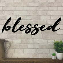 Blessed Metal Sign | Metal Expression | Metal Wall Art