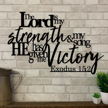 Exodus 15:2 | Bible Verse Metal Sign | Scripture Metal Sign | Metal Expression