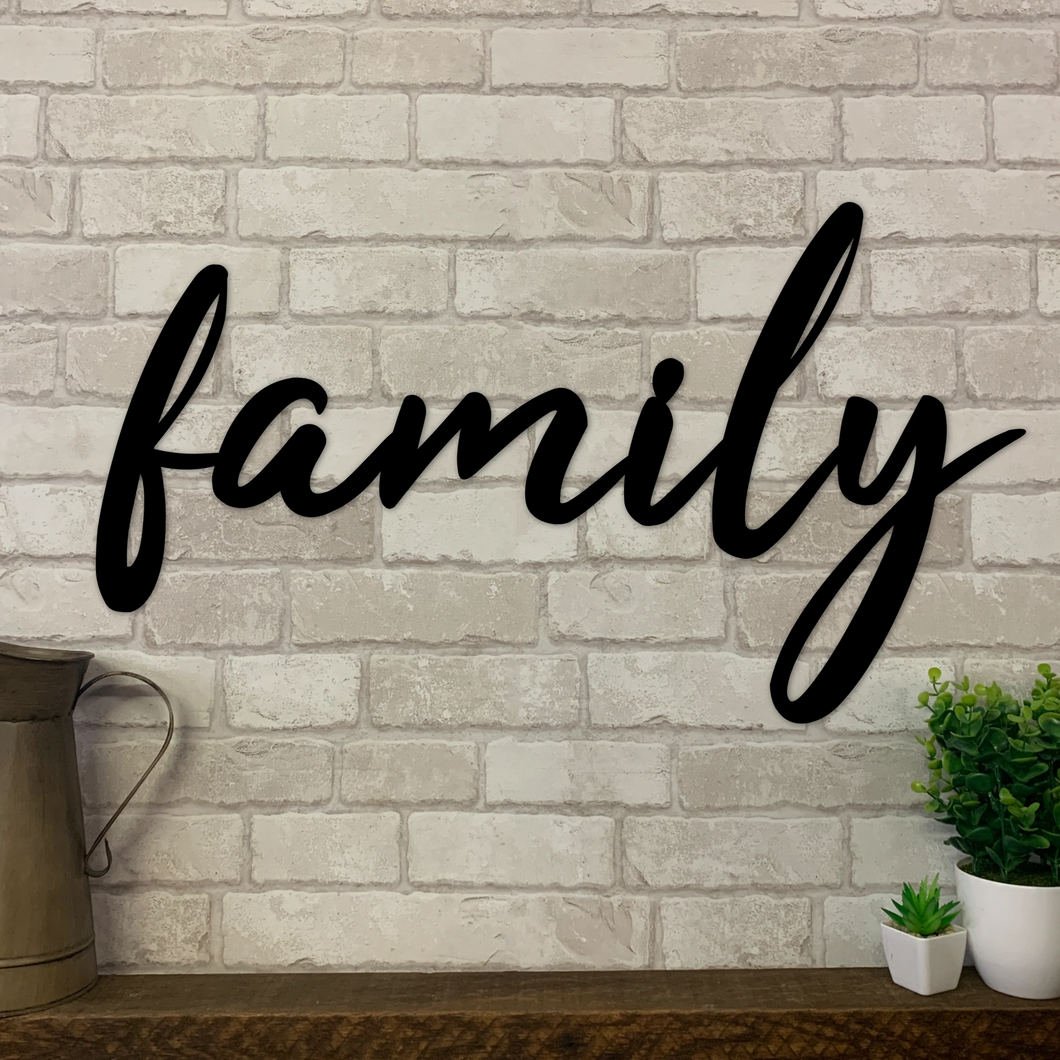 Family Metal Wall Sign | Metal Expression | Metal Wall Art