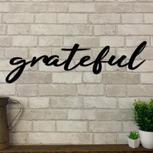 Grateful Metal Sign | Metal Expression | Metal Wall Art