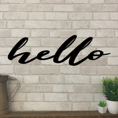 Hello Metal Sign | Metal Expression | Metal Wall Art