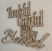 Thankful, Grateful and Truly Blessed Birch Wood Wall Decor