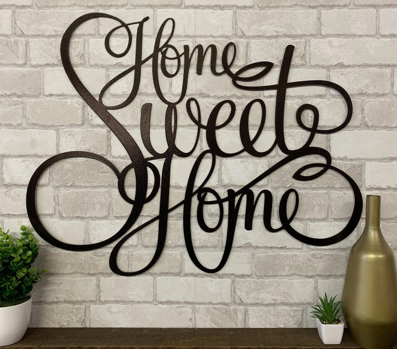Home Sweet Home Metal Wall Sign