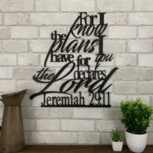 Jeremiah 29:11 Metal Sign | For I Know The Plans I Have For You | Metal Expression