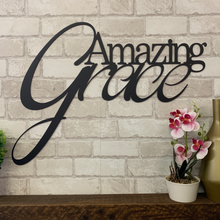 "Script ""Amazing Grace"" sign"
