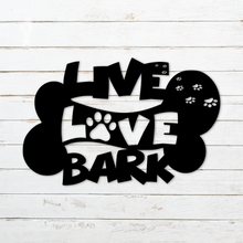 Live Laugh Bark (WOOD) Art