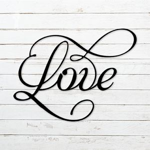 LOVE Metal Art Sign