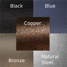 Color options for your metal art sign