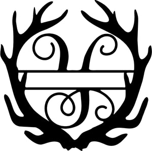 Monogram, Antler Name and Initial