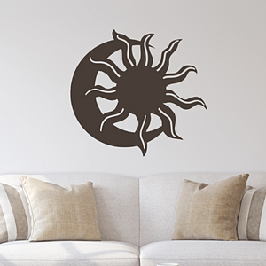 Desert Eclipse - Sun Moon Southwestern Metal Wall Art