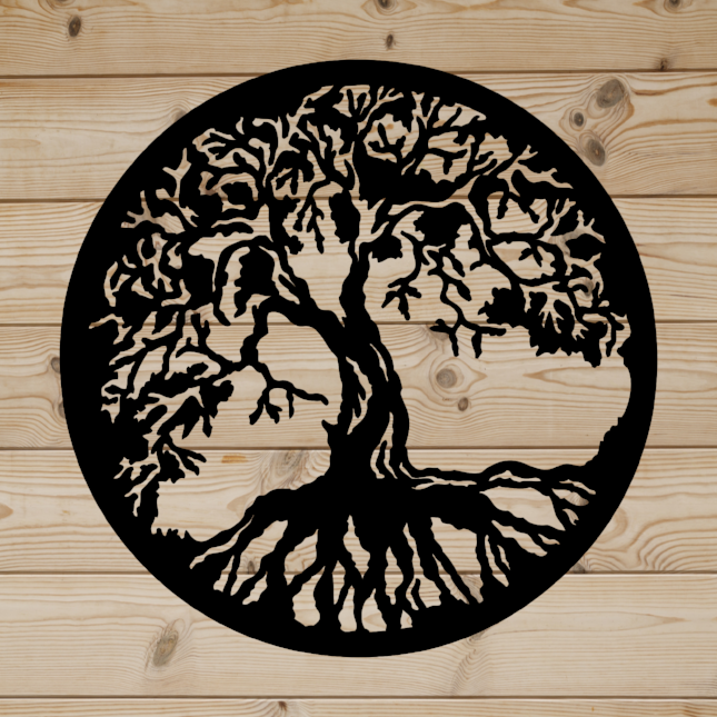 Tree Of Life Metal Art Rustic