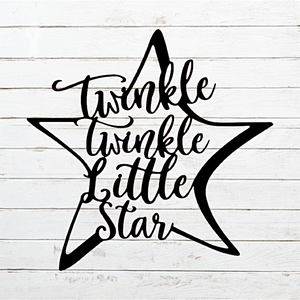 Twinkle Twinkle Little Star Metal Art