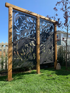 Vines Metal Privacy Screen | Metal Landscape Decor | Yard Art