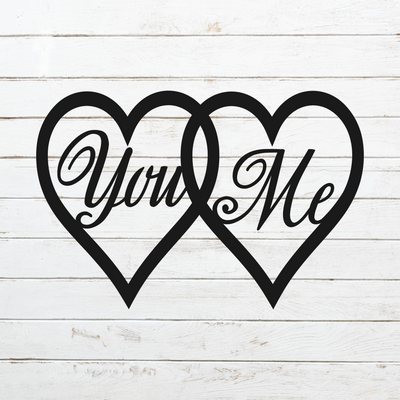 You Me Hearts Metal Art