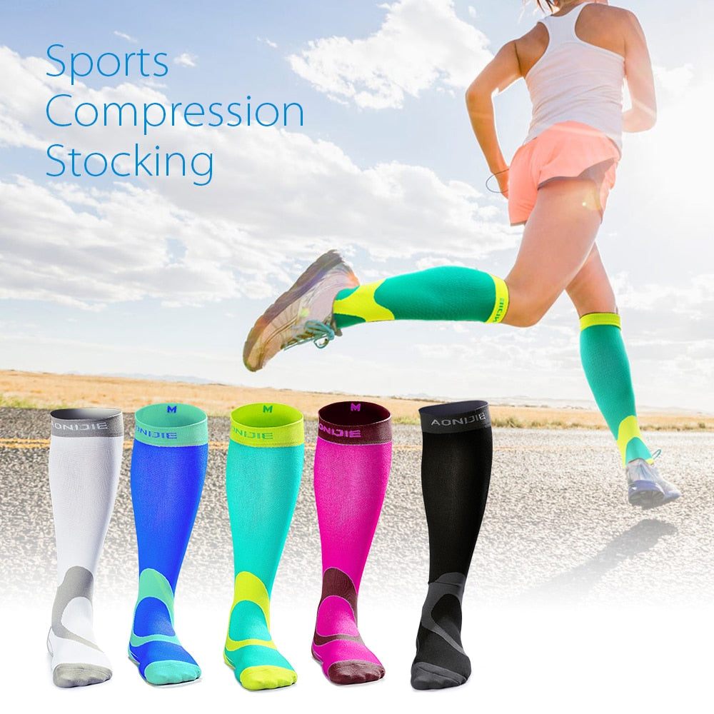 Marathon Running Compression Socks Multiple Colors