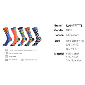 10 Pair/lot New Colorful Men's Combed Cotton Trendy Wedding Socks Funny Casual Crew Skateboard Socks Novelty Gifts - Assist Wear