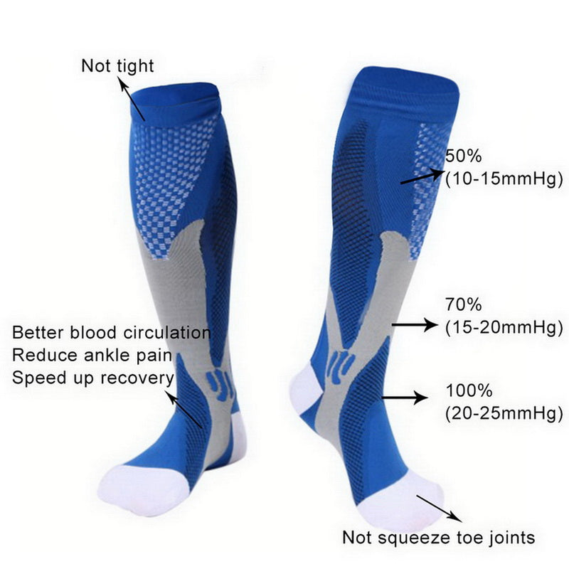best compression blue socks