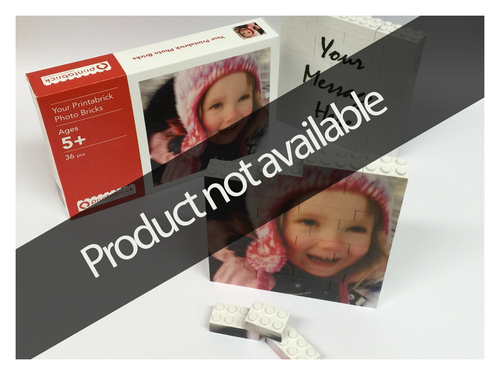 Personalised Printabrick Photo Bricks - Your own photo and message!