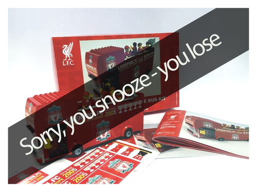 Liverpool Limited Edition Champions League Istanbul 2005 Parade Bus