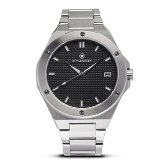 SILVER MATRIX 41MM BLACK DIAL