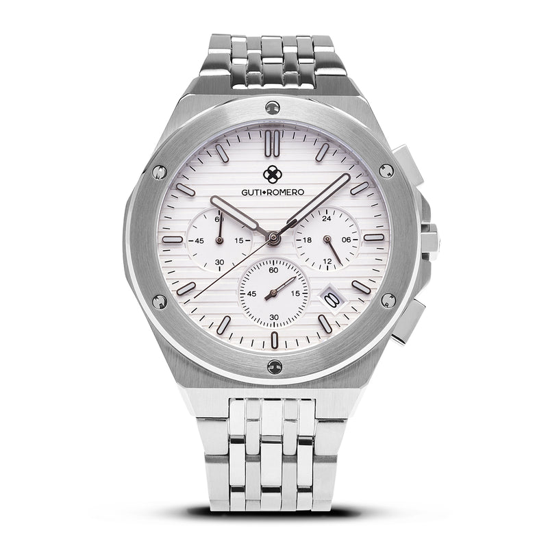 SILVER JETLINER 41 MM - WHITE DIAL