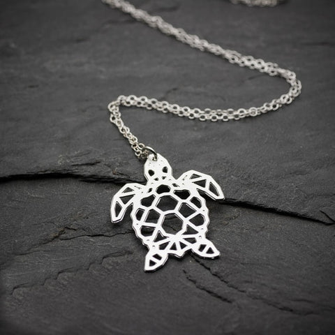 Unique Origami Sea Turtle Necklace