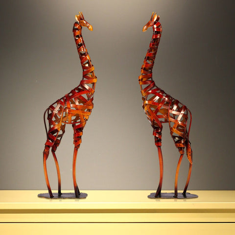 Metal Giraffe Sculpture for Your Home