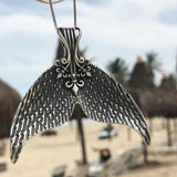 Antique Silver Whale Tail