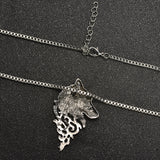 Old School Wolf Head Necklace
