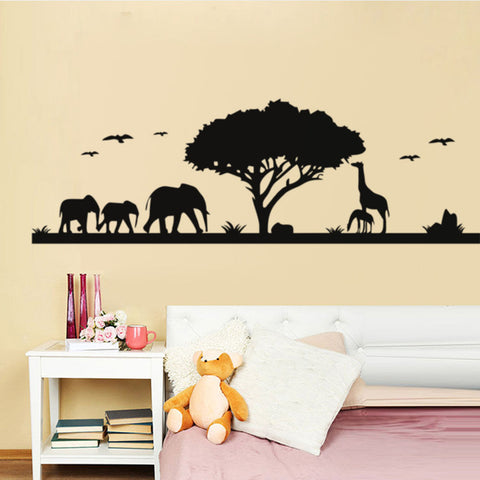 African Landscape Wall Sticker