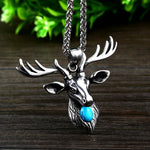 Viking Deer Head Amulet