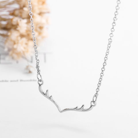 Simple Deer Antlers Necklace