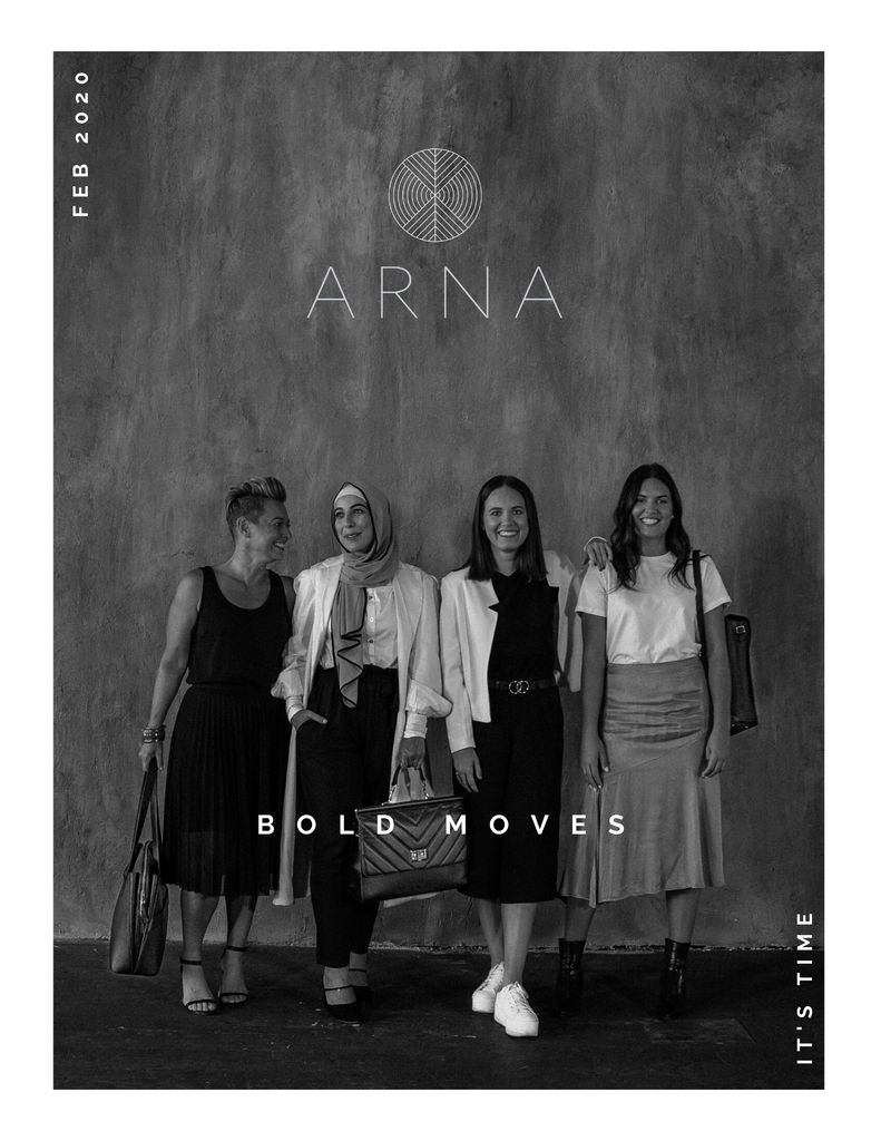 We launched ARNA in April 2019, as 2 sisters living in Bondi and working full time. We have a vision to change the stories women see and tell about themselves in society and our mission is to empower women to make bold decisions. Today, we launch our first ARNA campaign sharing stories of 4 powerful women featuring our new work and laptop bag collection.   Our amazing talent in our Bold Moves campaign!!!