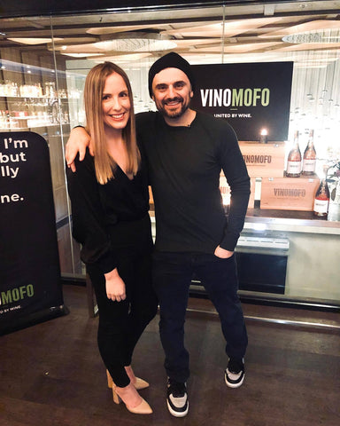 Erin Sing with Gary Vee in Australia for the Vinomofo partnership