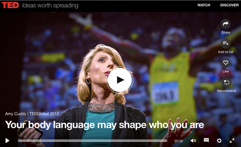 Amy Cuddy ted talk body language image