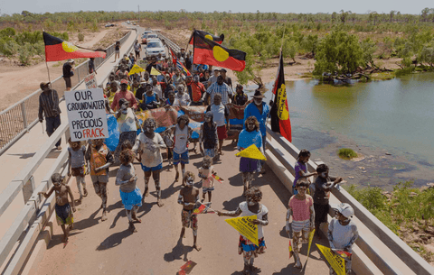 ARNA Stop Fracking in the NT with Seed Mob