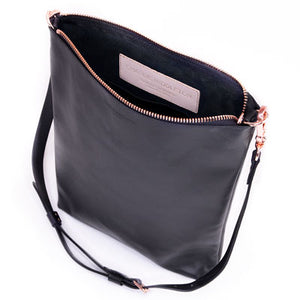 Black Leather Laptop Tote