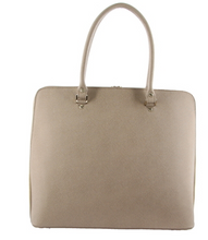 Load image into Gallery viewer, Taupe Laptop Tote