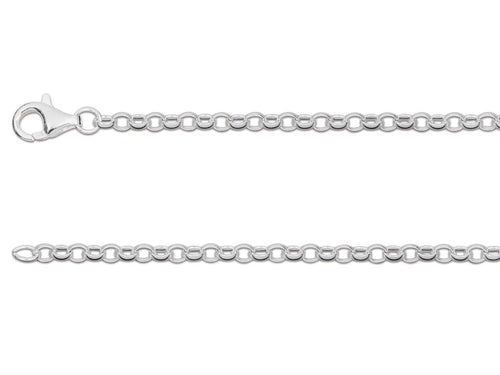 Sterling Silver Belcher Chain 2.5mm - Various Sizes - Mon Bijoux