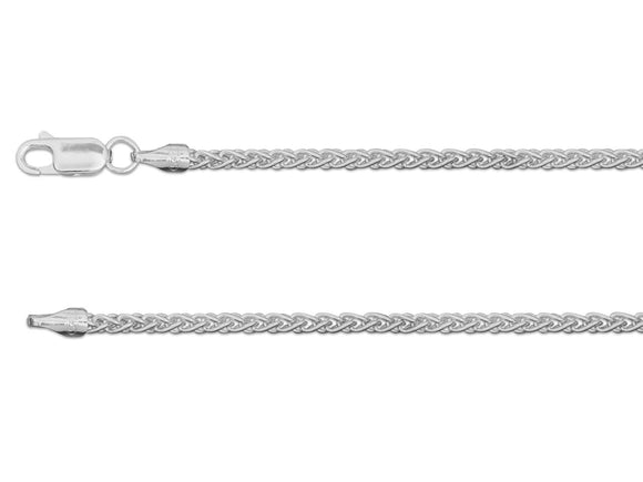 Sterling Silver Wheat Spiga Chain 2.5mm - Mon Bijoux