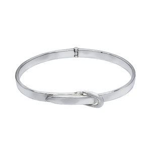 Adjustable Belt Silver Bracelet Bangle - Mon Bijoux