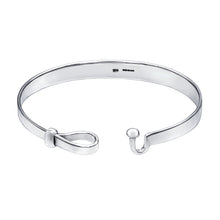 Load image into Gallery viewer, Hook and Ball Silver Bangle Tiny Wrist